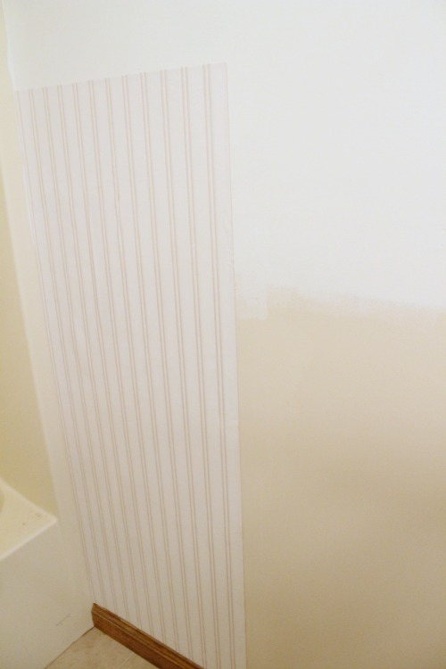Beadboard Wallpaper Installation Tutorial 500x750