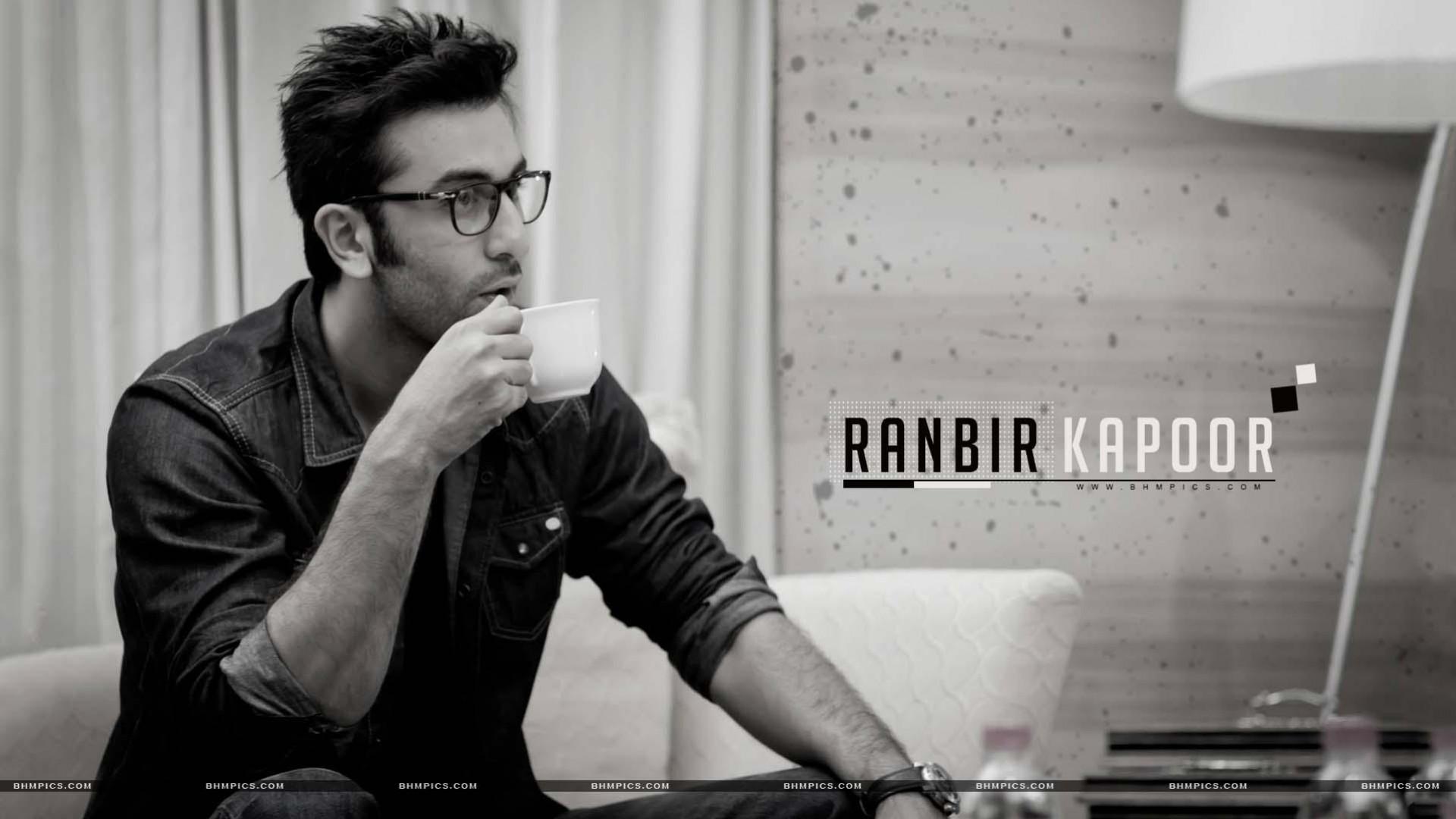 wallpaper Ranbir Kapoor Indian actor handsome man drinking 1920x1080