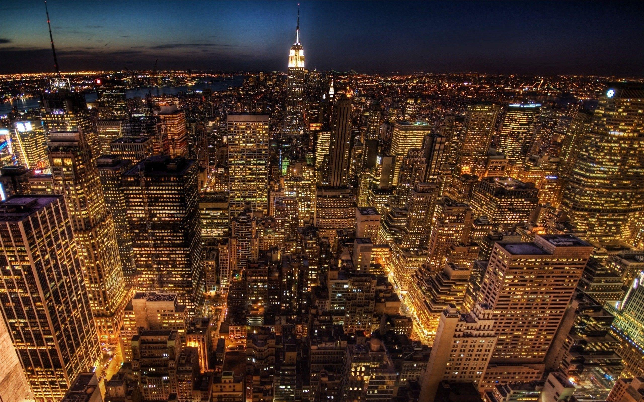 New York City Wallpaper At Night   wallpaper 2560x1600