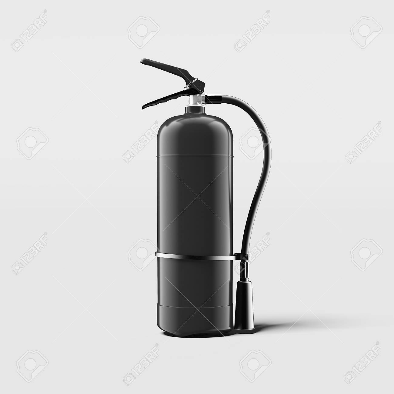 Black Fire Extinguisher On Light Grey Background 3d Rendering 1300x1300