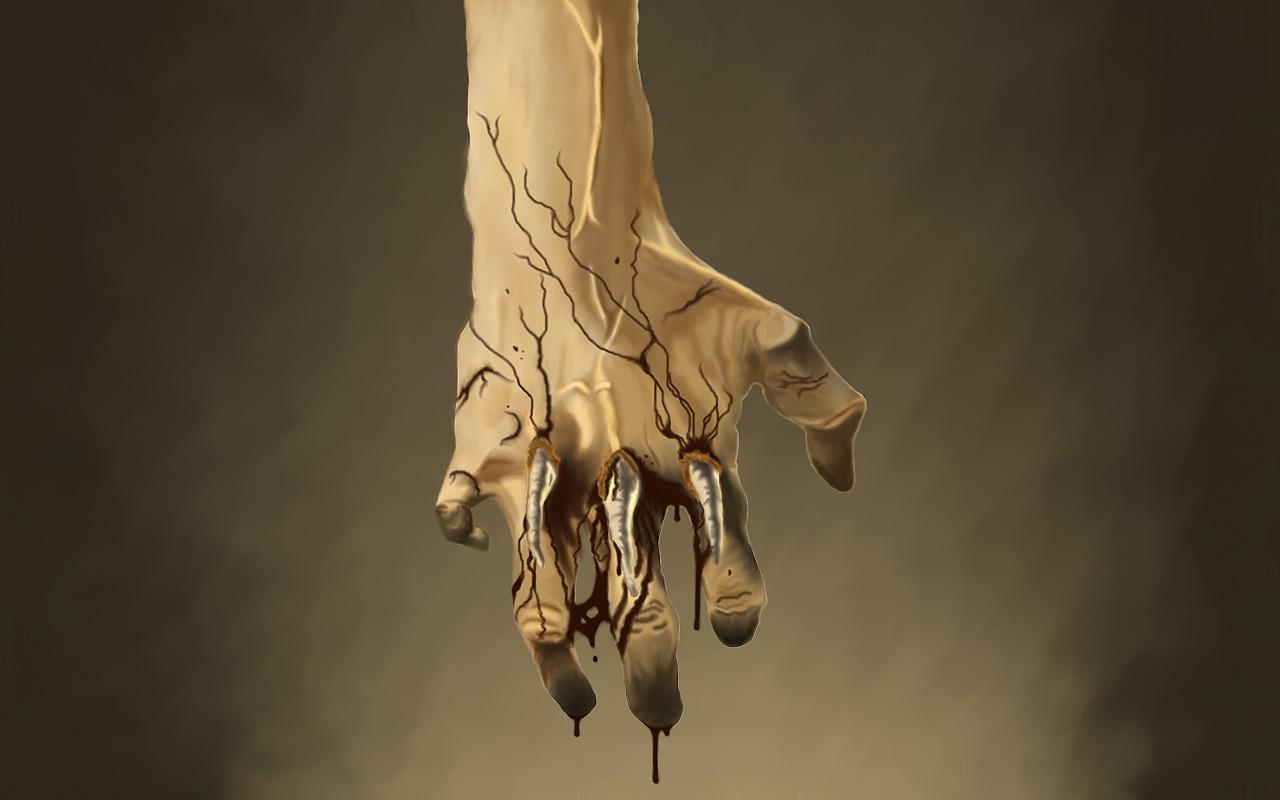 blood hands surreal bones Gross Wallpapers 1280x800