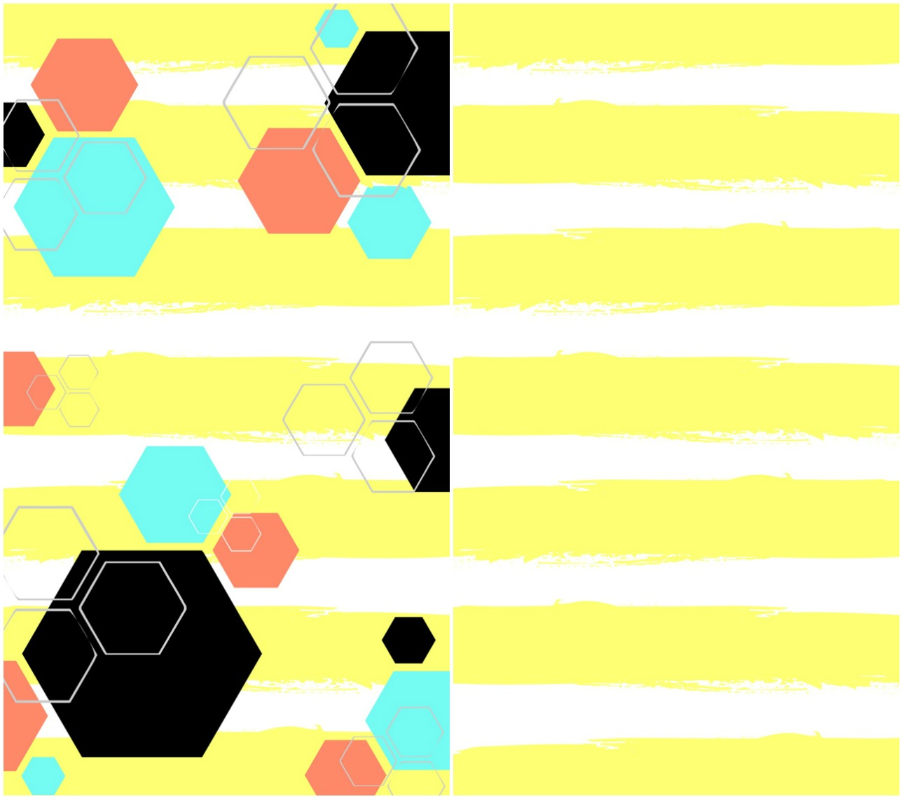 Yellow Hexagon Phone Wallpaper 1289x1140