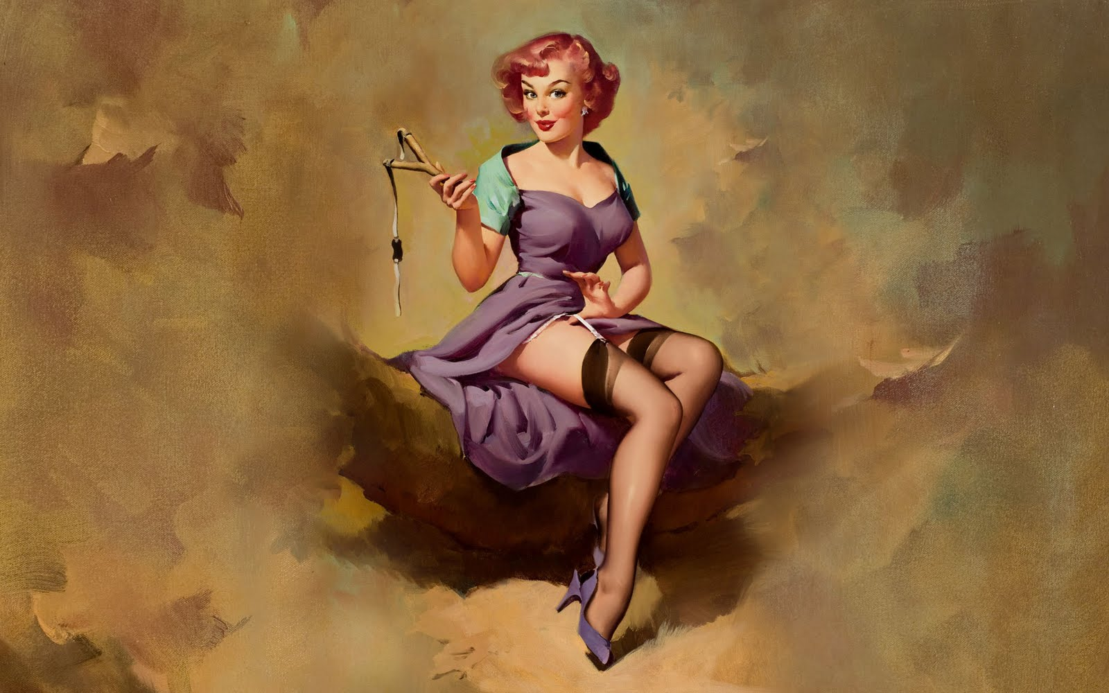 50 Classic Pin Up Wallpaper On Wallpapersafari