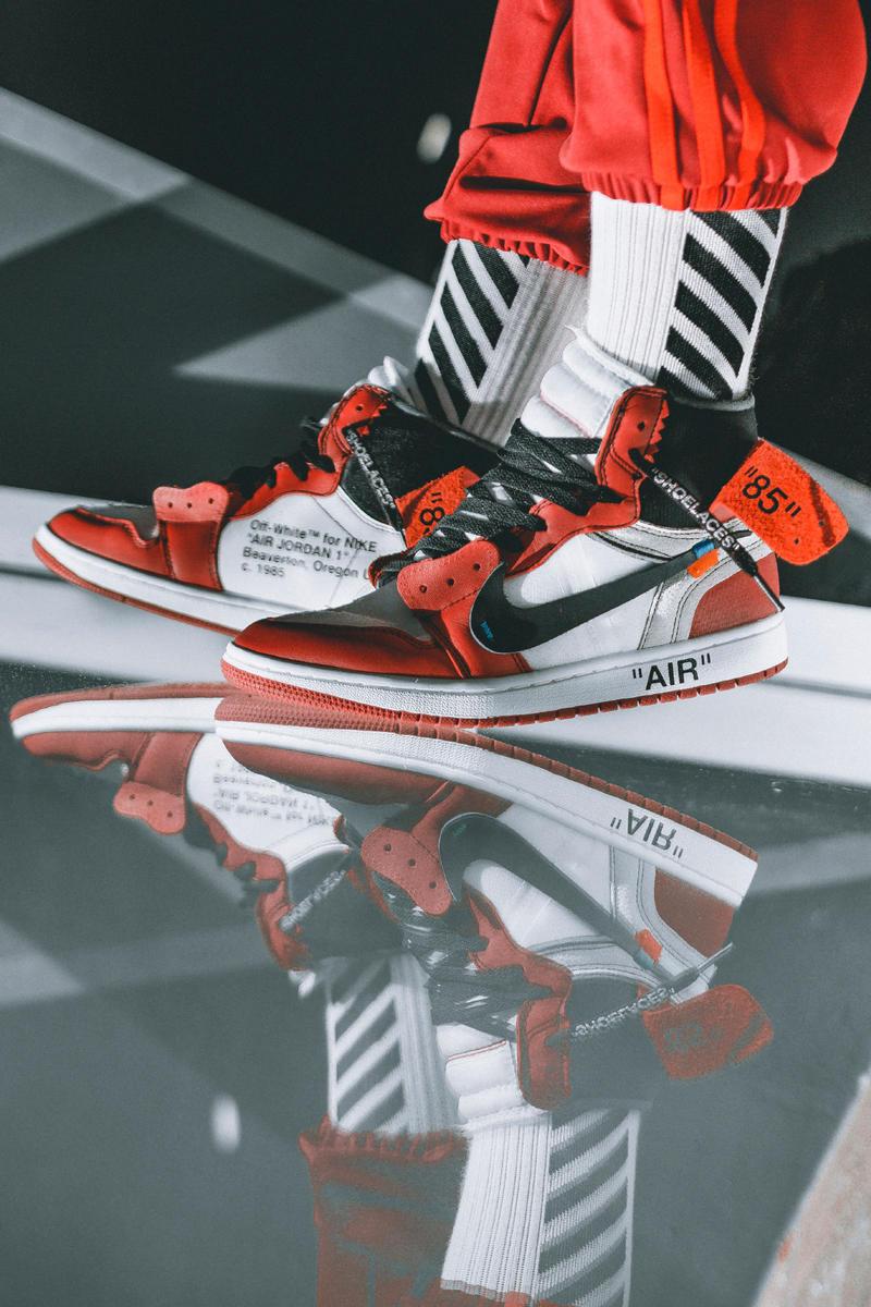 OFF WHITE x Air Jordan 1 On Feet Images HYPEBEAST 800x1200