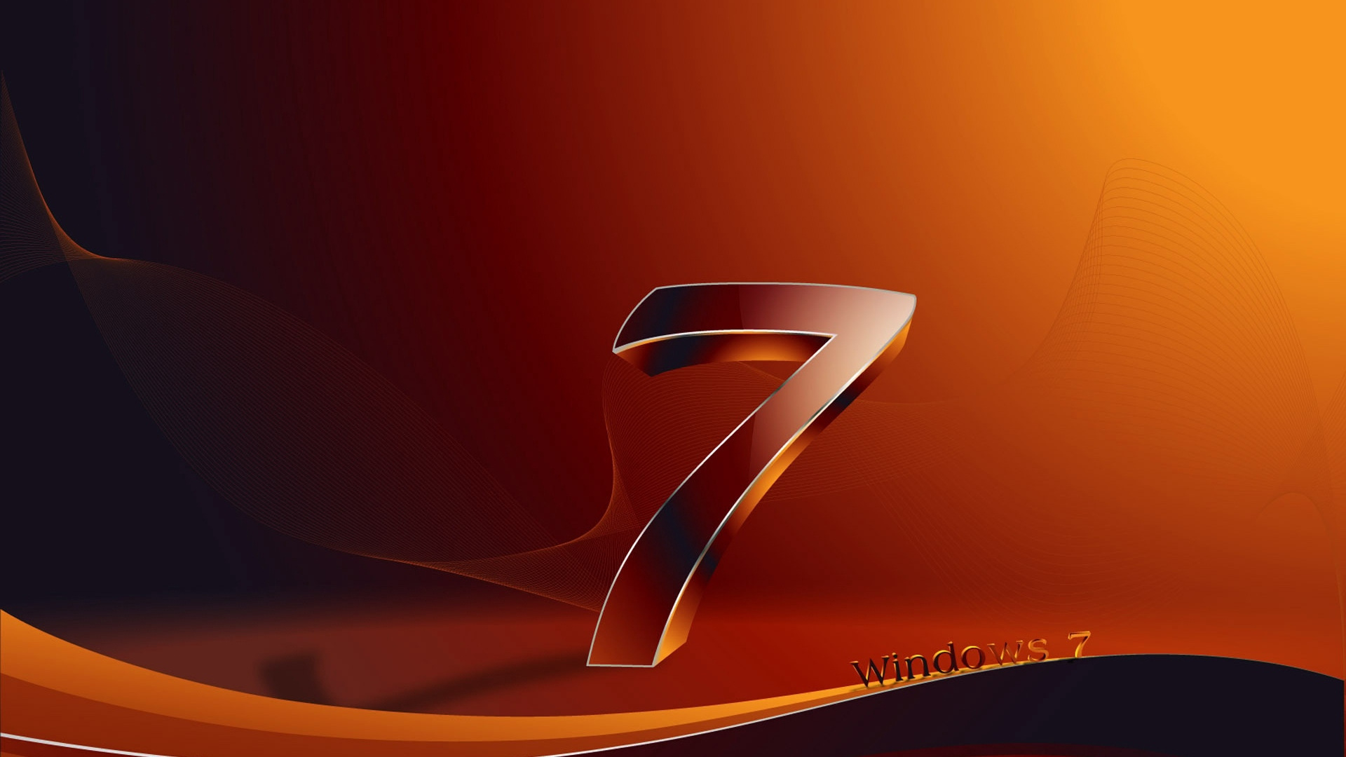 Download wallpaper 1920x1080 windows 7 os orange black full hd 1920x1080