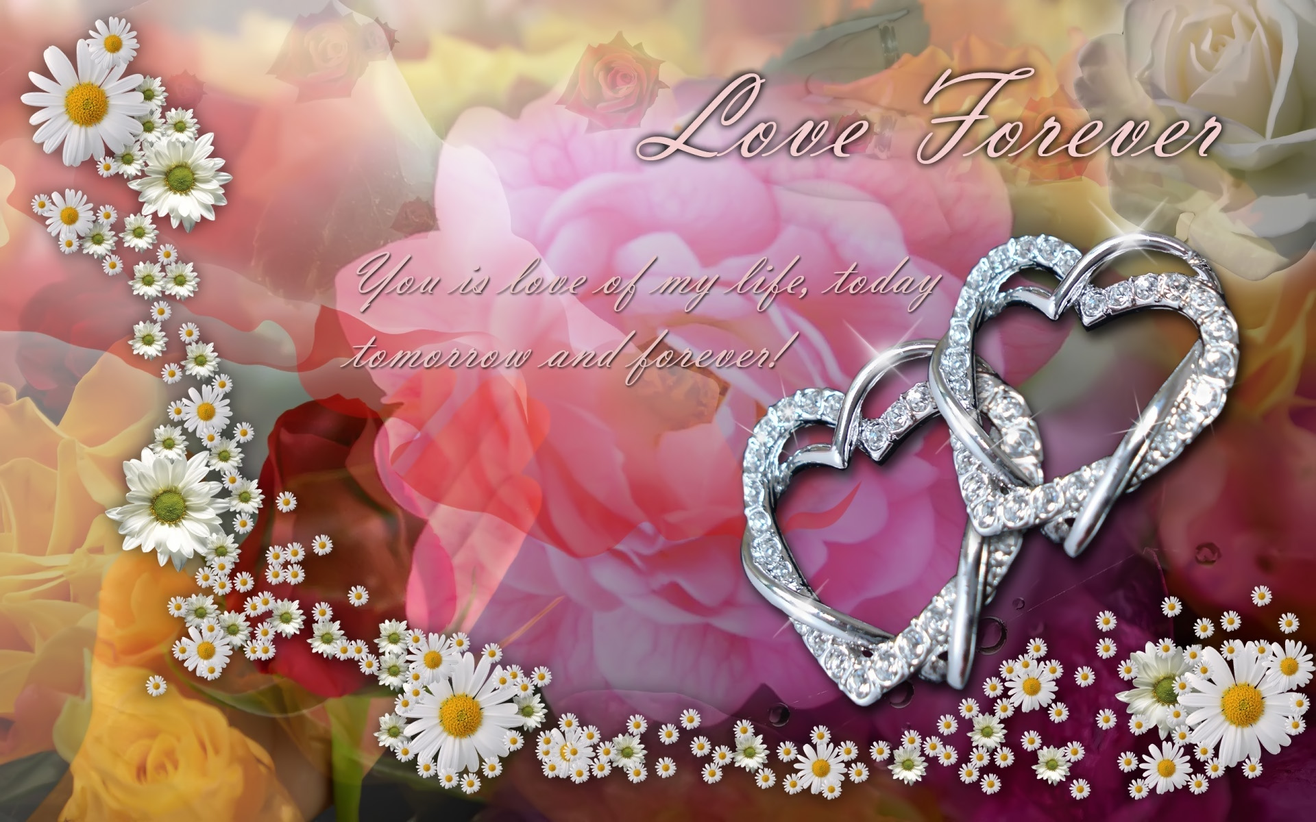 forever love valentines backgrounds wallpapers 1920x1200 1920x1200
