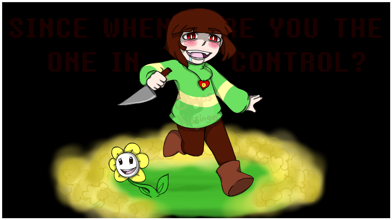 undertale chara wallpaper by chaos55t watch customization wallpaper 1280x720
