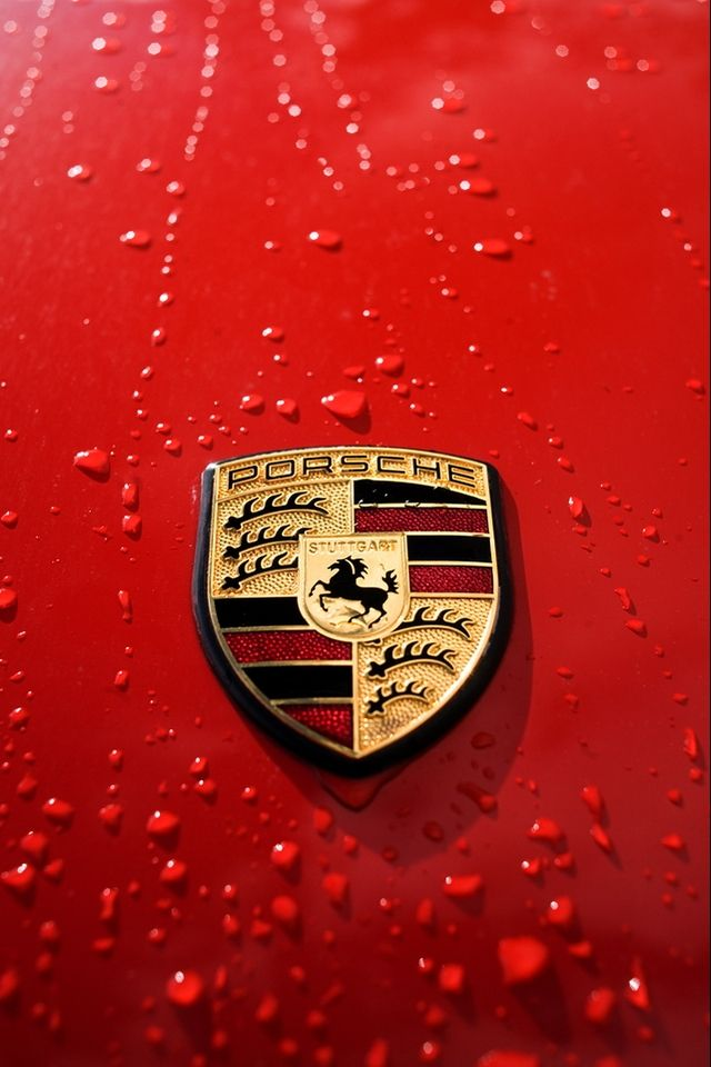 Porsche Logo iPhone wallpaper Sports Car Bikes 640x960
