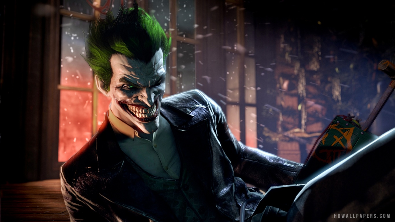 Joker Batman Arkham Origins Wallpaper 1366x768