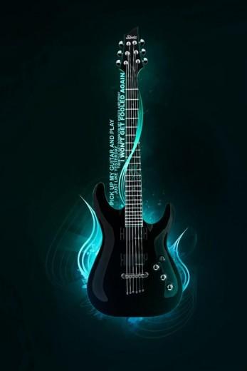 Electric Guitar Simply beautiful iPhone wallpapers 347x520