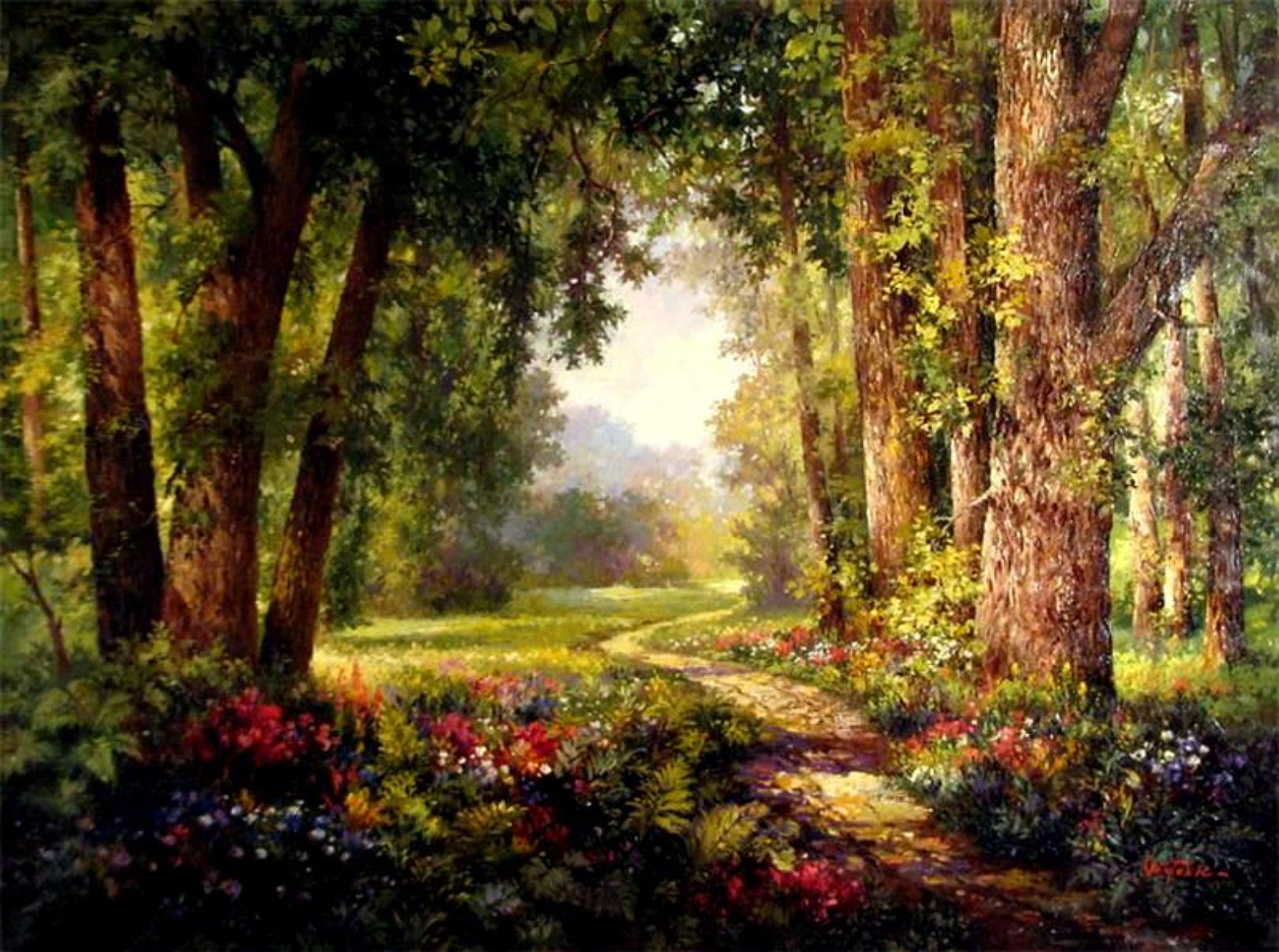 enchanted forest background - photo #35