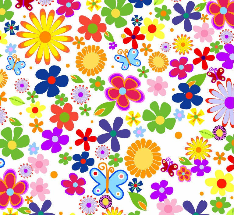 Spring Flowers Background Vector Graphic Vector Graphics All 768x705