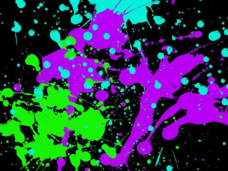 Neon Splatter Paint Wallpaper Lexis Room Ideas Pinterest 736x552