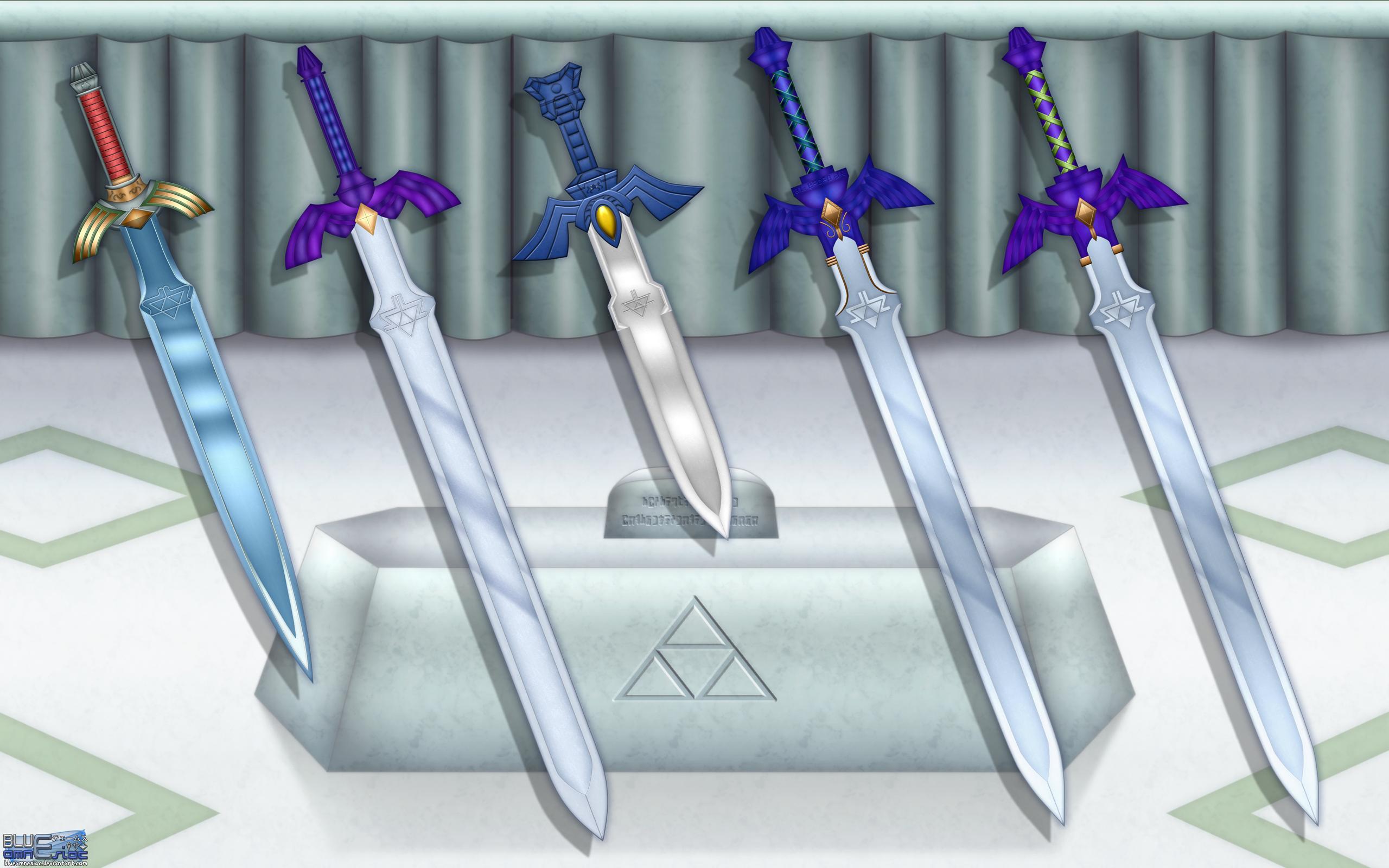 Evolution of the Master Sword Wallpaper by BLUEamnesiac 2560x1600
