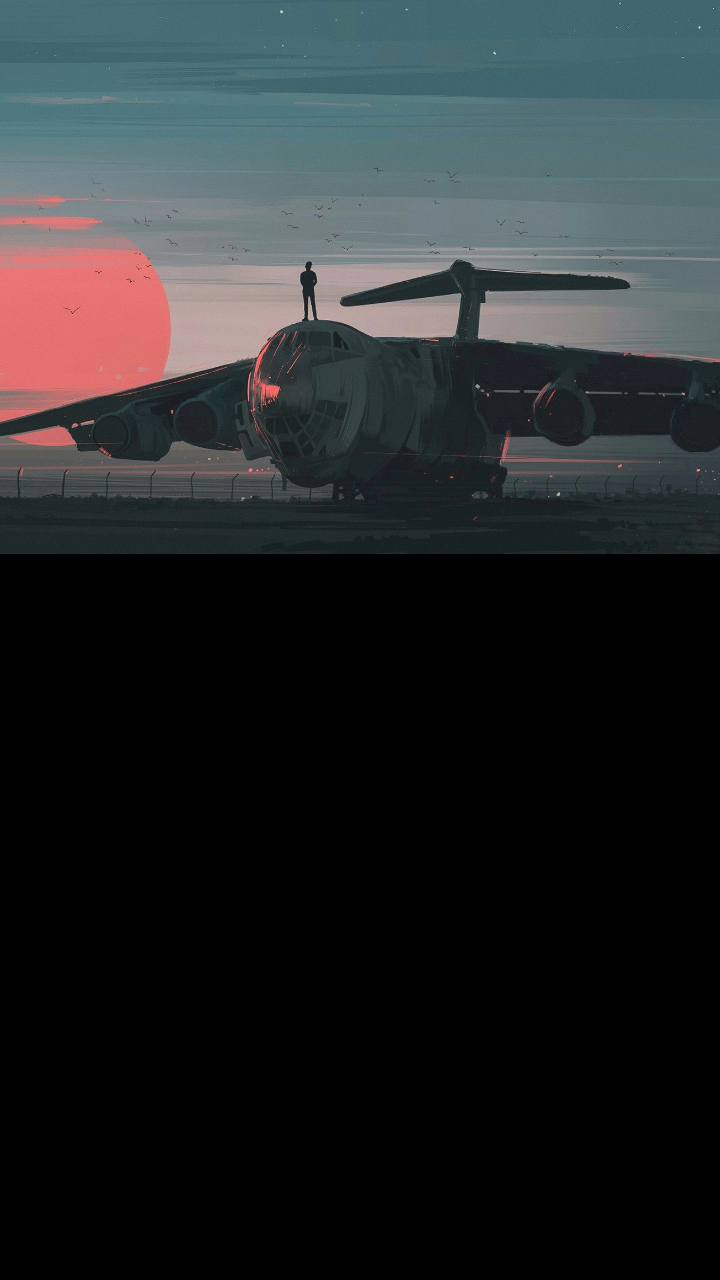 Mnml plane android wallpaper   Album on Imgur 720x1280