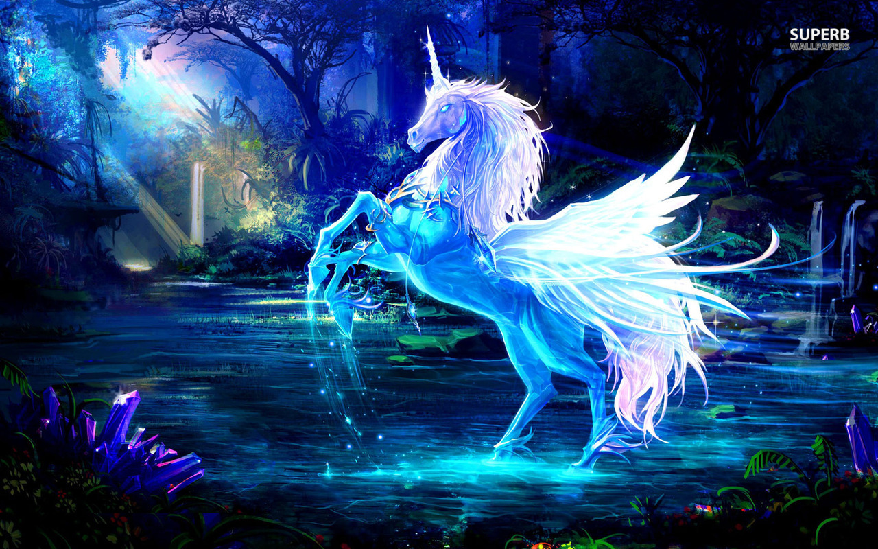 fantasy desktop wallpaper download sparkling crystal unicorn fantasy 1280x800