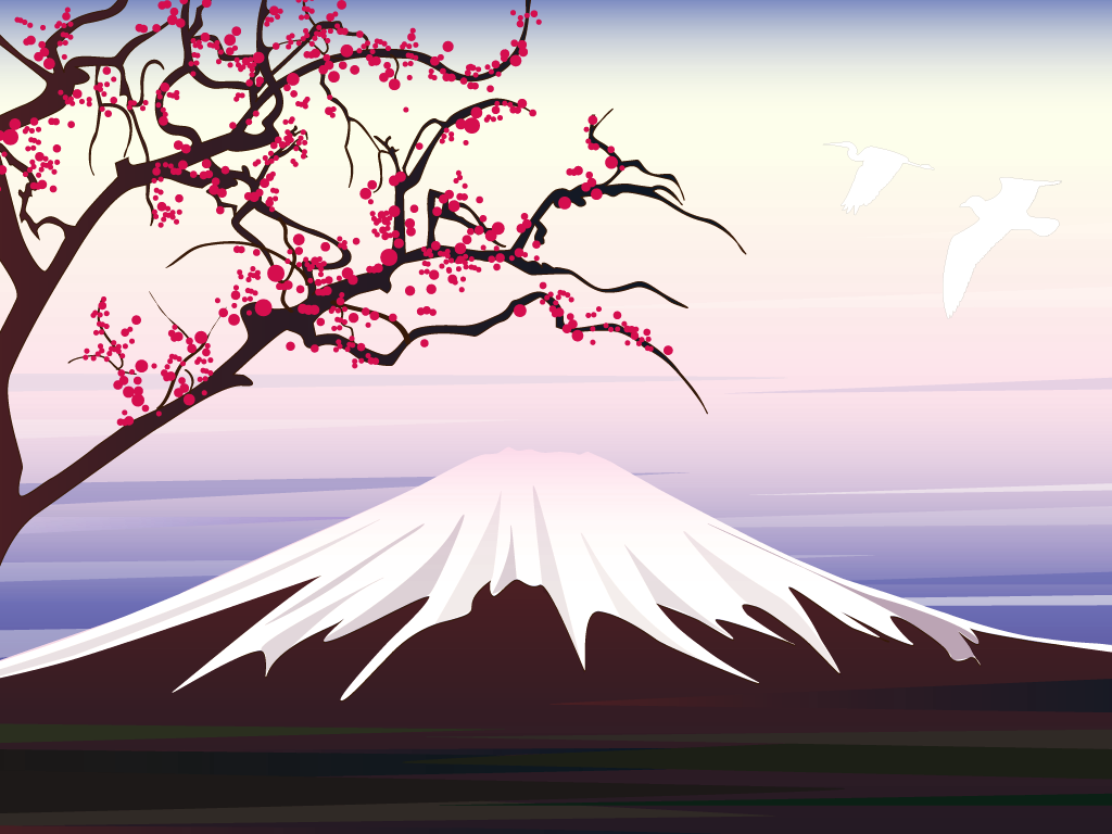 mount fuji wallpaper Clipart freefree 1024x768