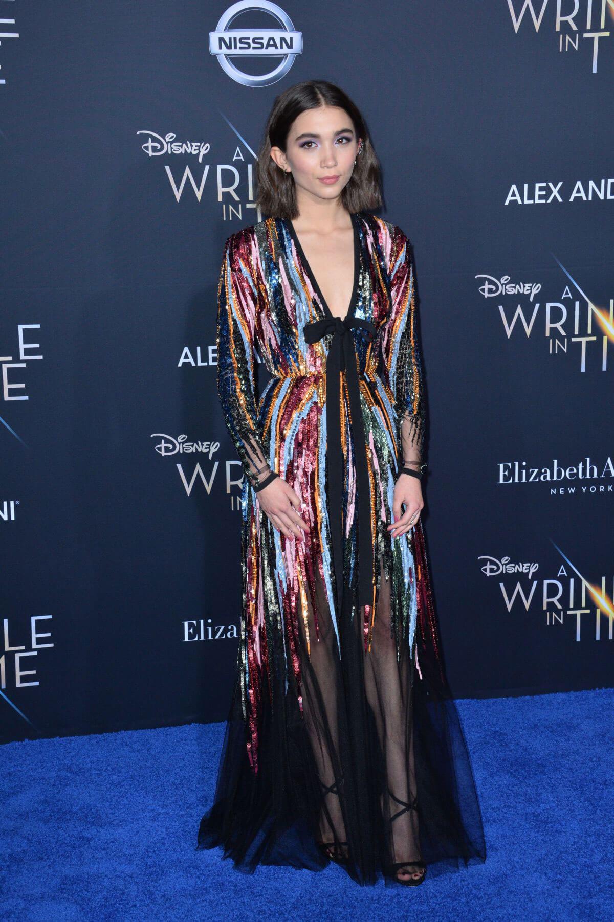 Rowan Blanchard Stills at A Wrinkle in Time Premiere in 1200x1803
