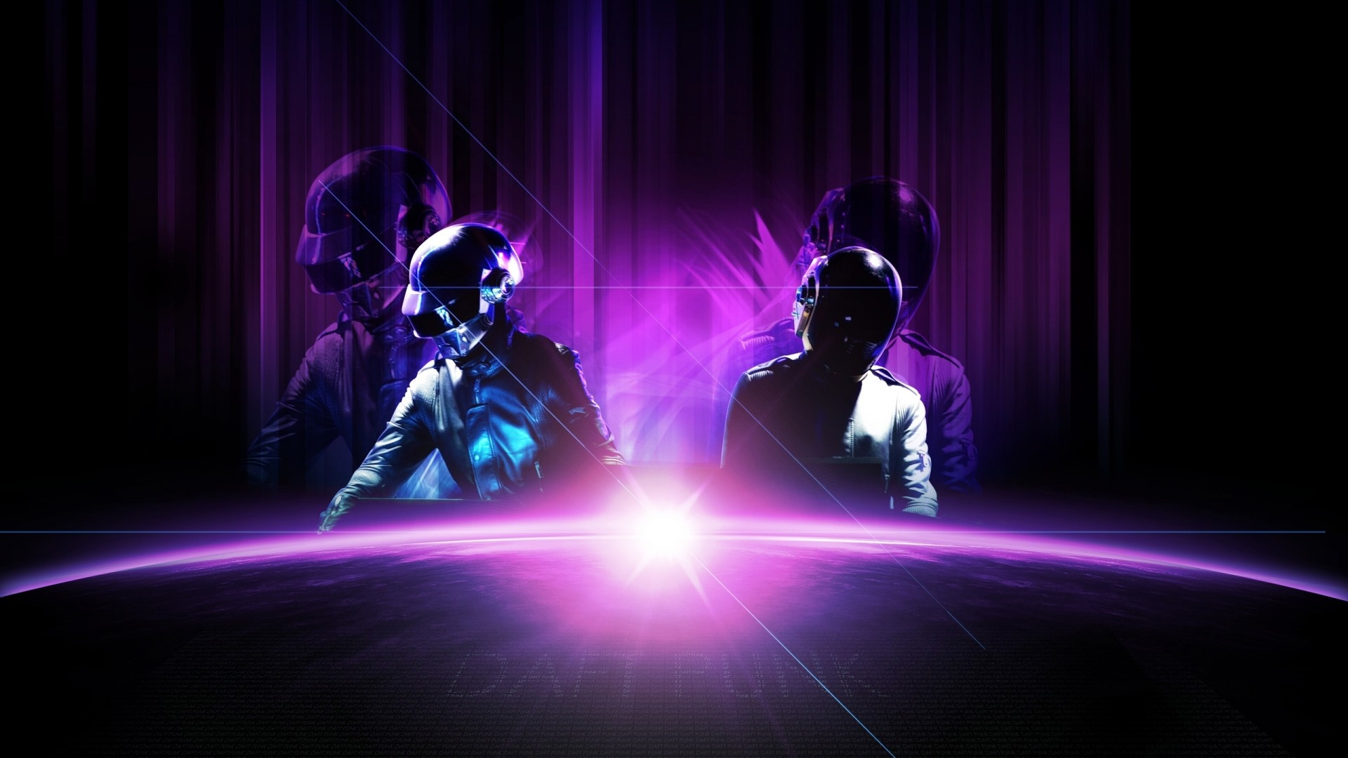 Abstract Music Wallpaper 1920x1080 Abstract Music Daft Punk 1920x1080
