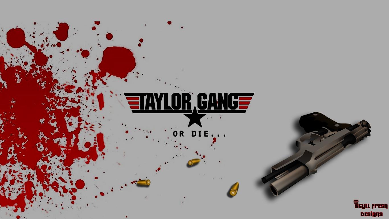 Wiz Khalifa Taylor Gang or Die Rap Wallpapers 1366x768