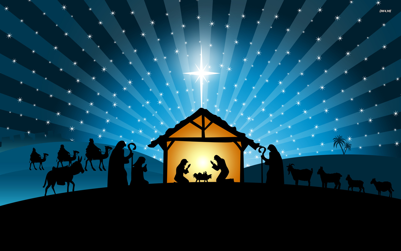 Nativity scene wallpaper   Holiday wallpapers   3554 1680x1050