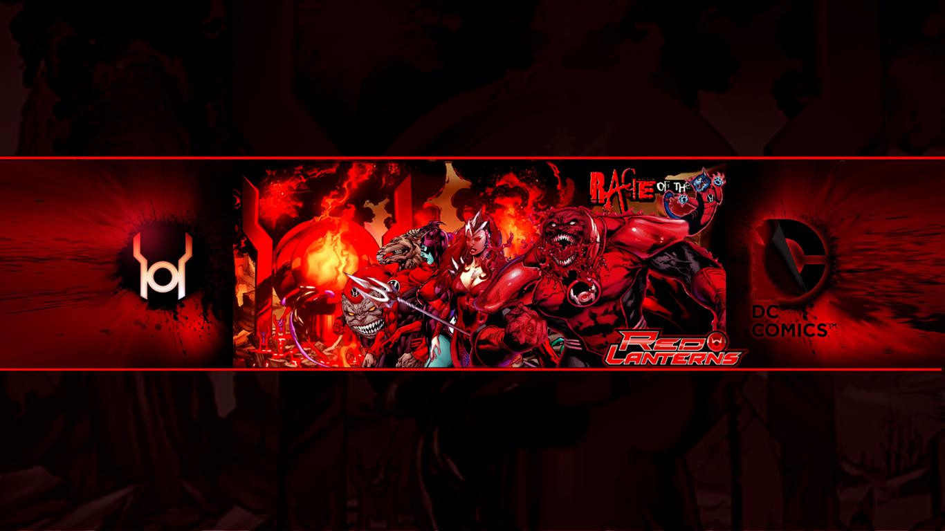 Red Lantern Corps Wallpaper 1366x768