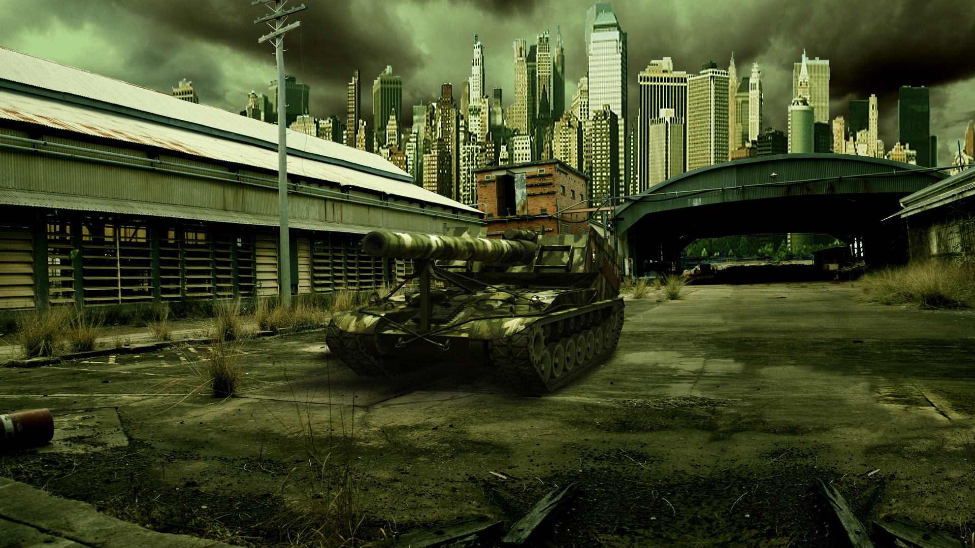 World of Tanks SPG T92 Games Cities military wallpaper 1920x1080 1920x1080