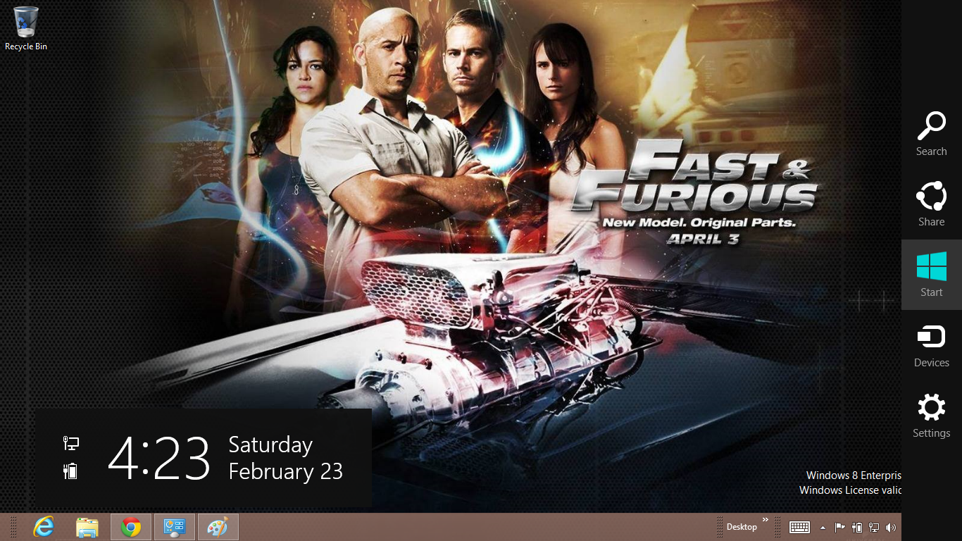 gratis tema windows 7 Fast And Furious 6 Windows 7 And 8 Theme 1366x768