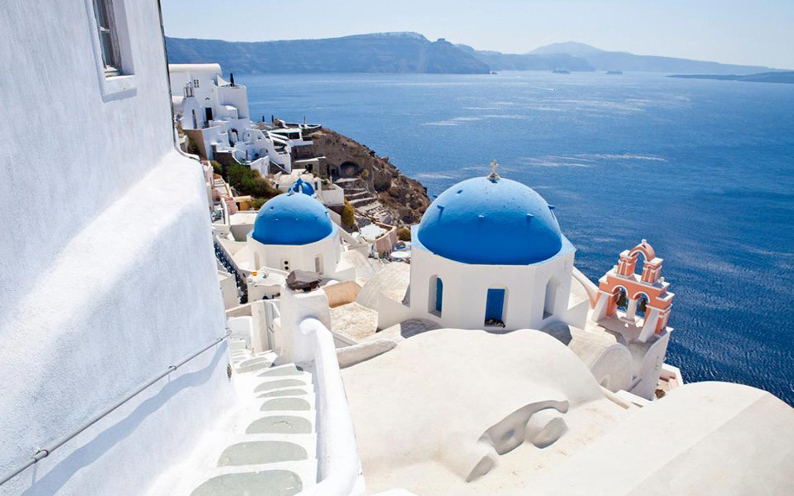 wallpaper santorini greece island - photo #4