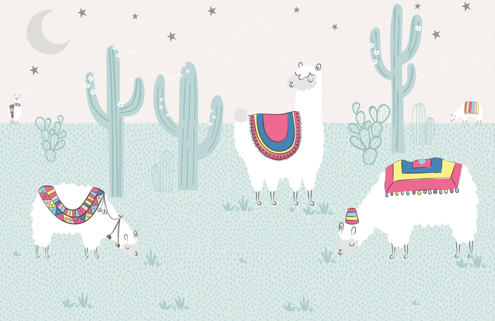 Cool Llama Wallpaper Mural MuralsWallpaper 1650x1070