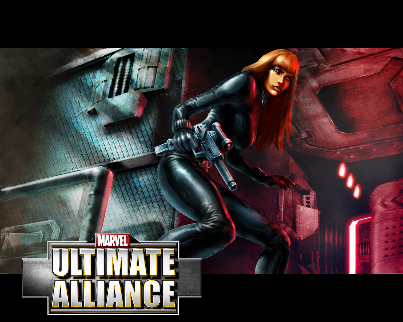 black widow marvel ultimate alliance wallpaper black widow wallpaper 1280x1024
