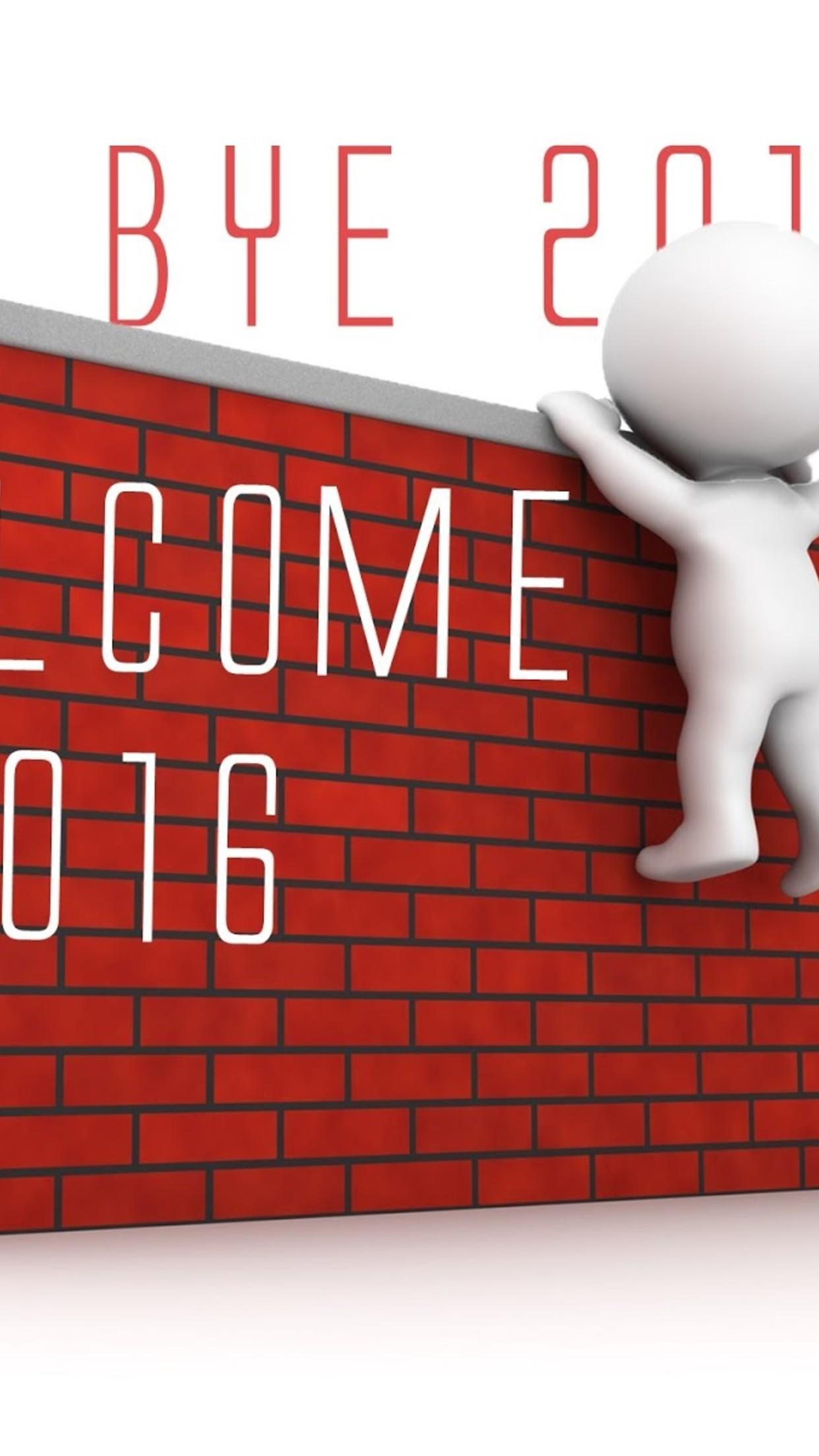 Download Wallpaper 1242x2208 Good bye 2015 welcome 2016   Happy New 1242x2208