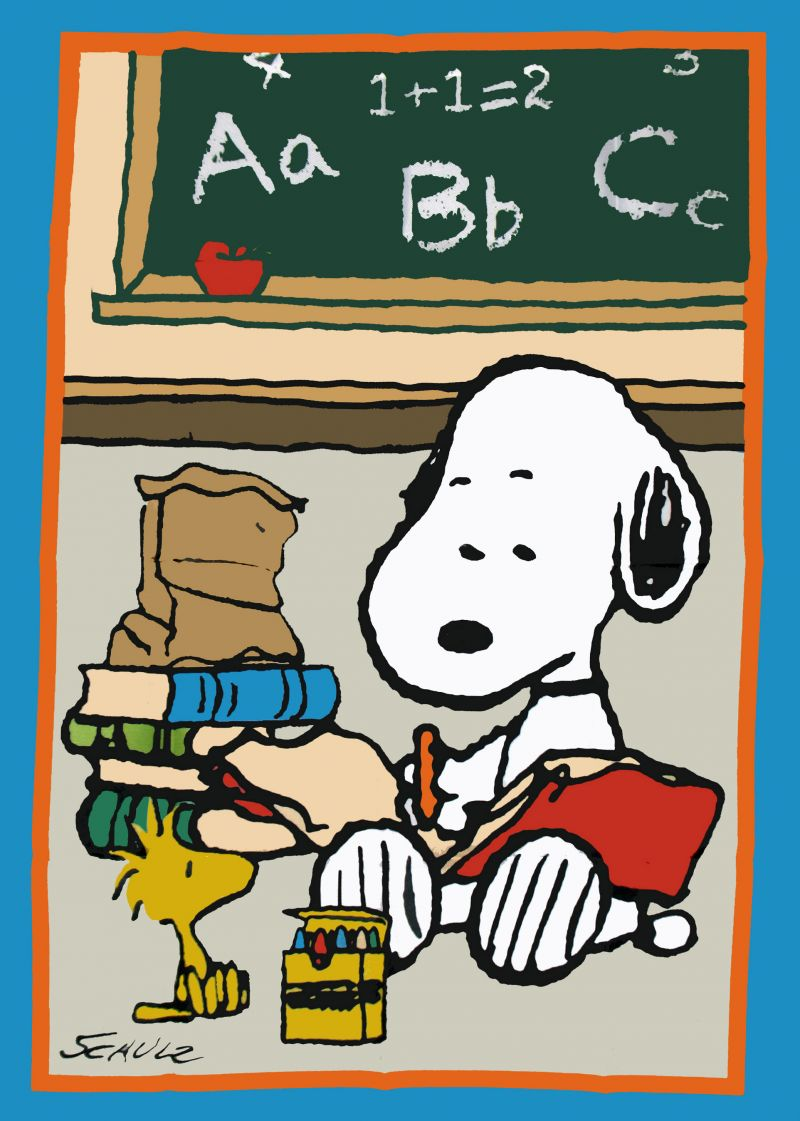 SNOOPY SCHOOL CLASSROOM Flag Snoopn4pnutscom 800x1121