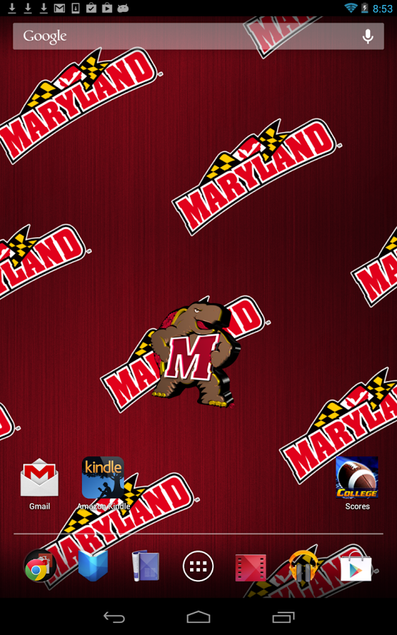 Officially licensed University of Maryland Terrapins Live Wallpaper 562x900