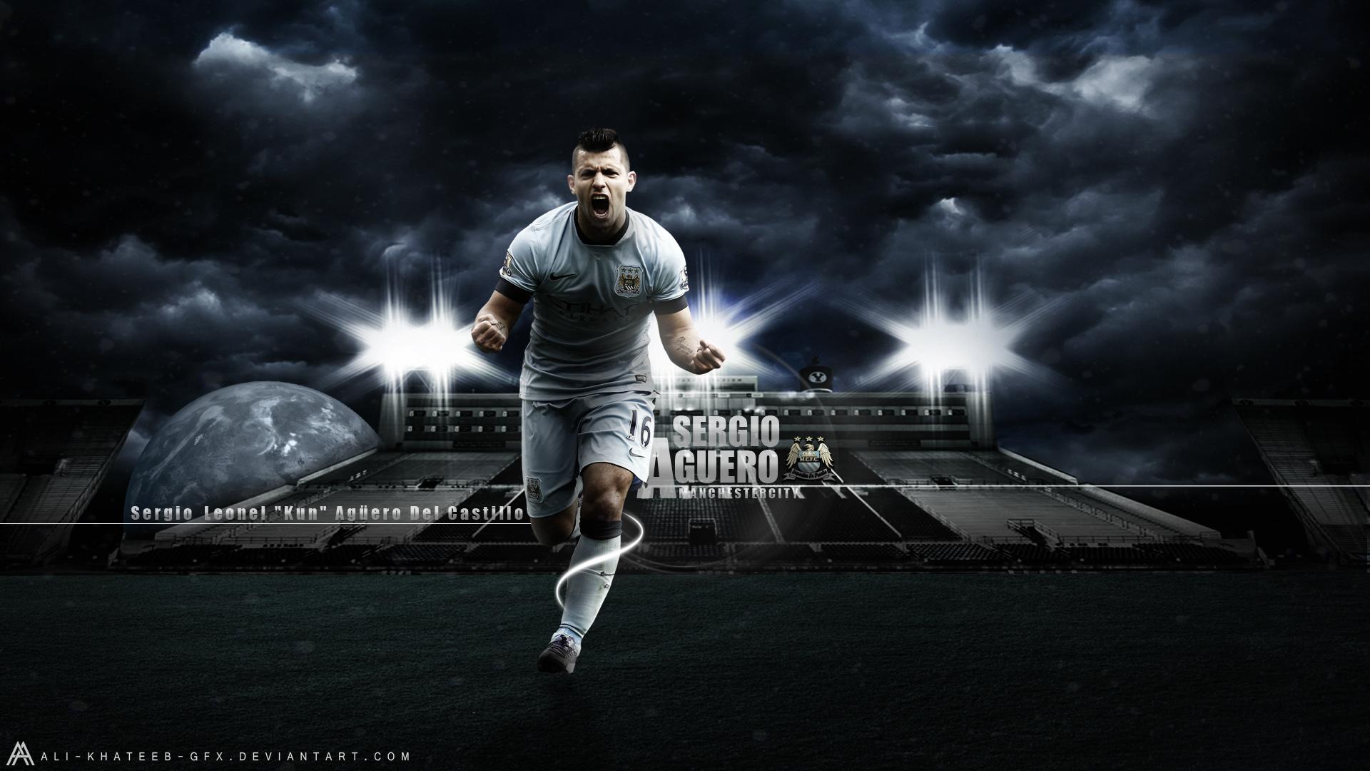 Download Sergio Aguero Manchester City Player HD Wallpaper Search 1920x1080
