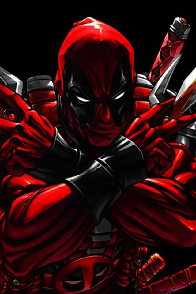 Deadpool Iphone Wallpaper 640x960
