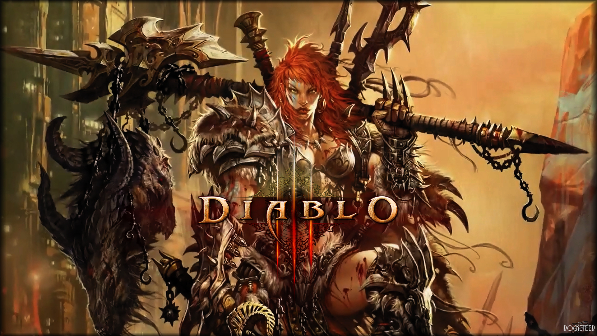Diablo 3 Female Barbarian HD Wallpapers Desktop 1920x1080