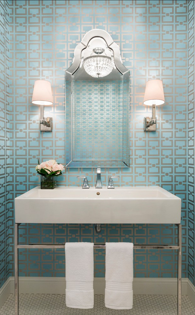 Catchy Collections Of Powder Room Wallpaper Ideas Fabulous Homes