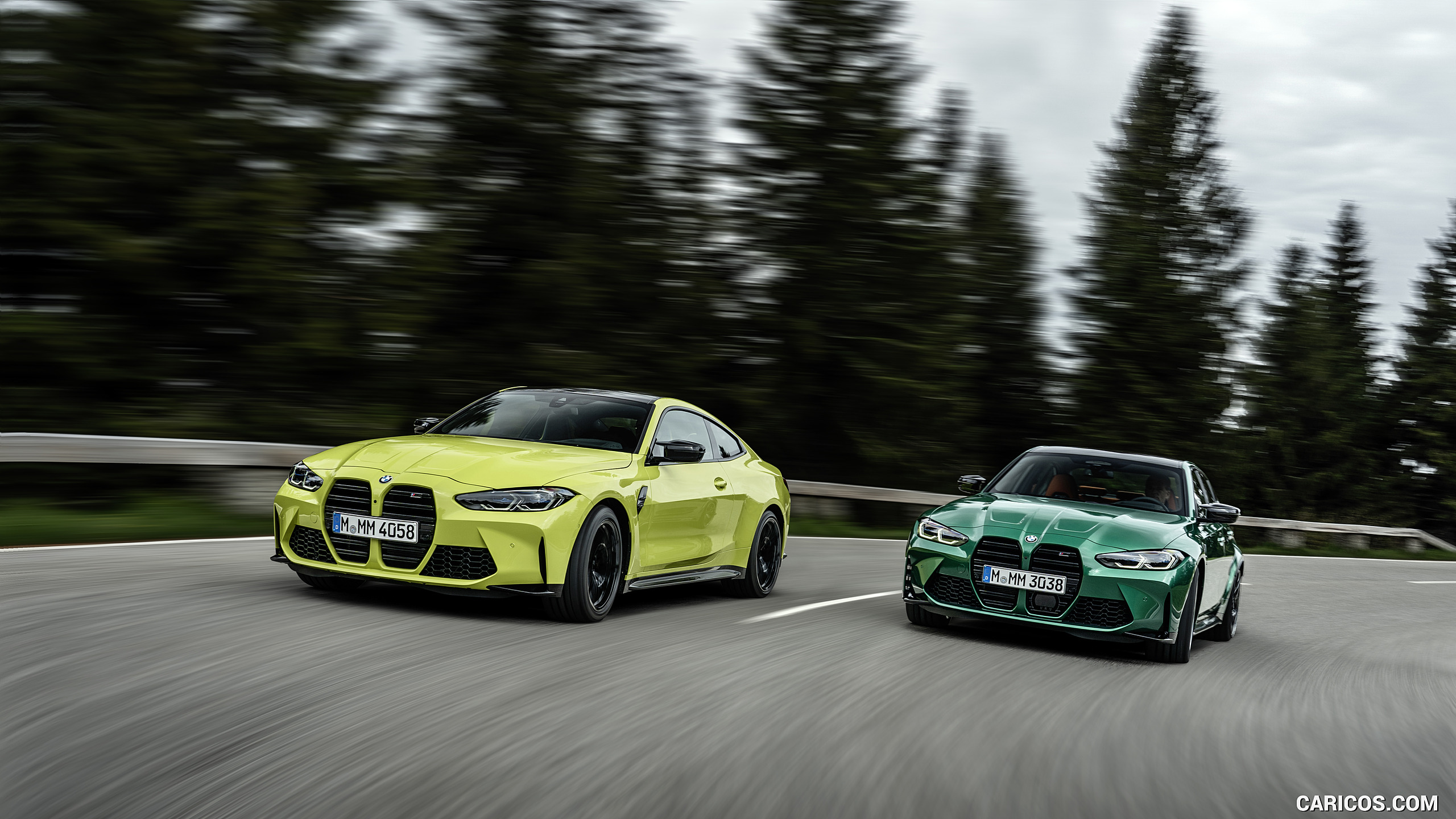 2021 BMW M3 Sedan and 2021 M4 Coupe HD Wallpaper 14 2560x1440