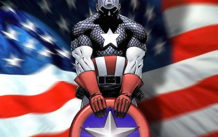 Captain america background wallpaper Comic Book Art Inspiration P 736x464