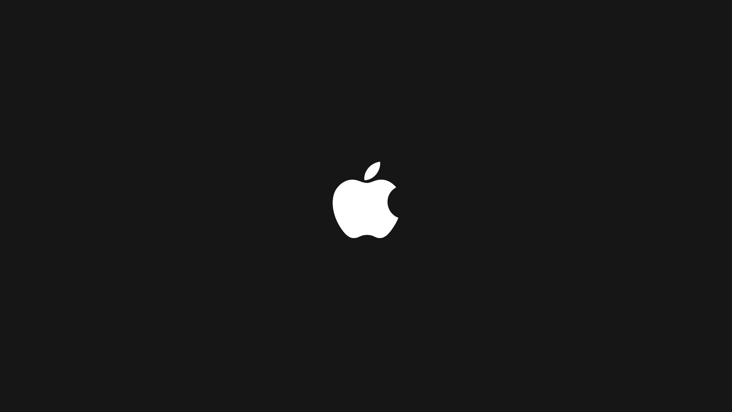mac apple logo minimalism black background green HD wallpaper 2560x1440