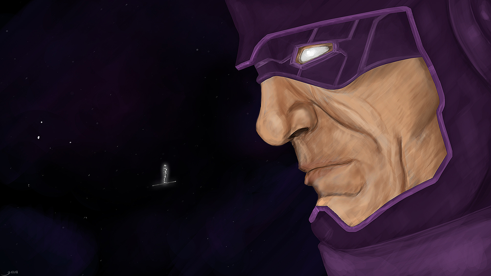 Galactus vs Silver Surfer by Giova94 1920x1080