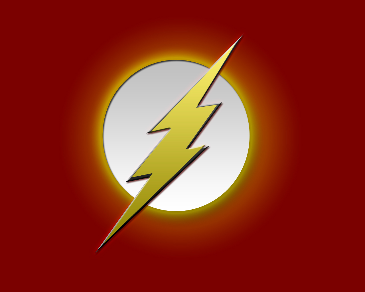Flash Logo Wallpaper   Comic Imagescom 1280x1024
