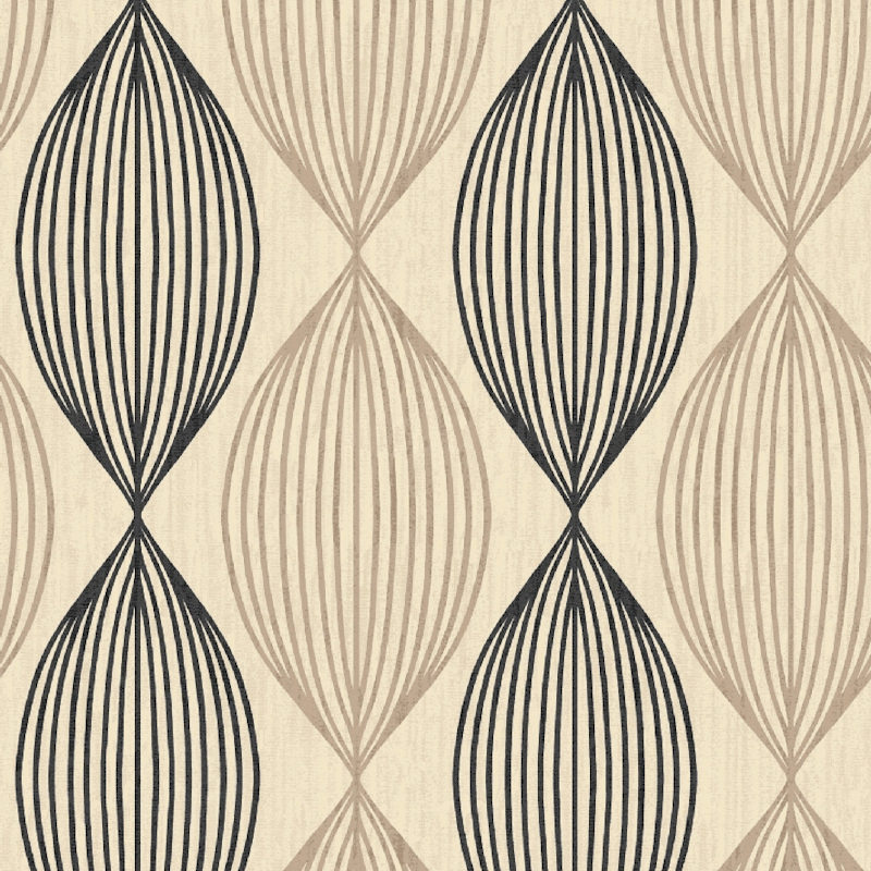 Debona Orbit Beige Black Wallpaper 3801 800x800