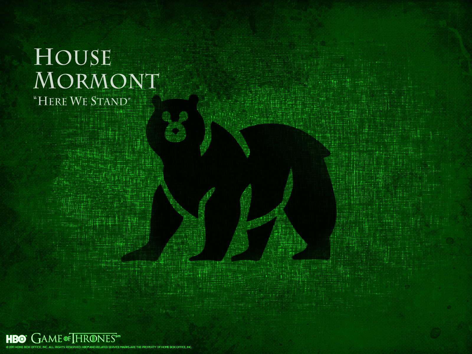 House Mormont   Game of Thrones Wallpaper 31246383 1600x1200