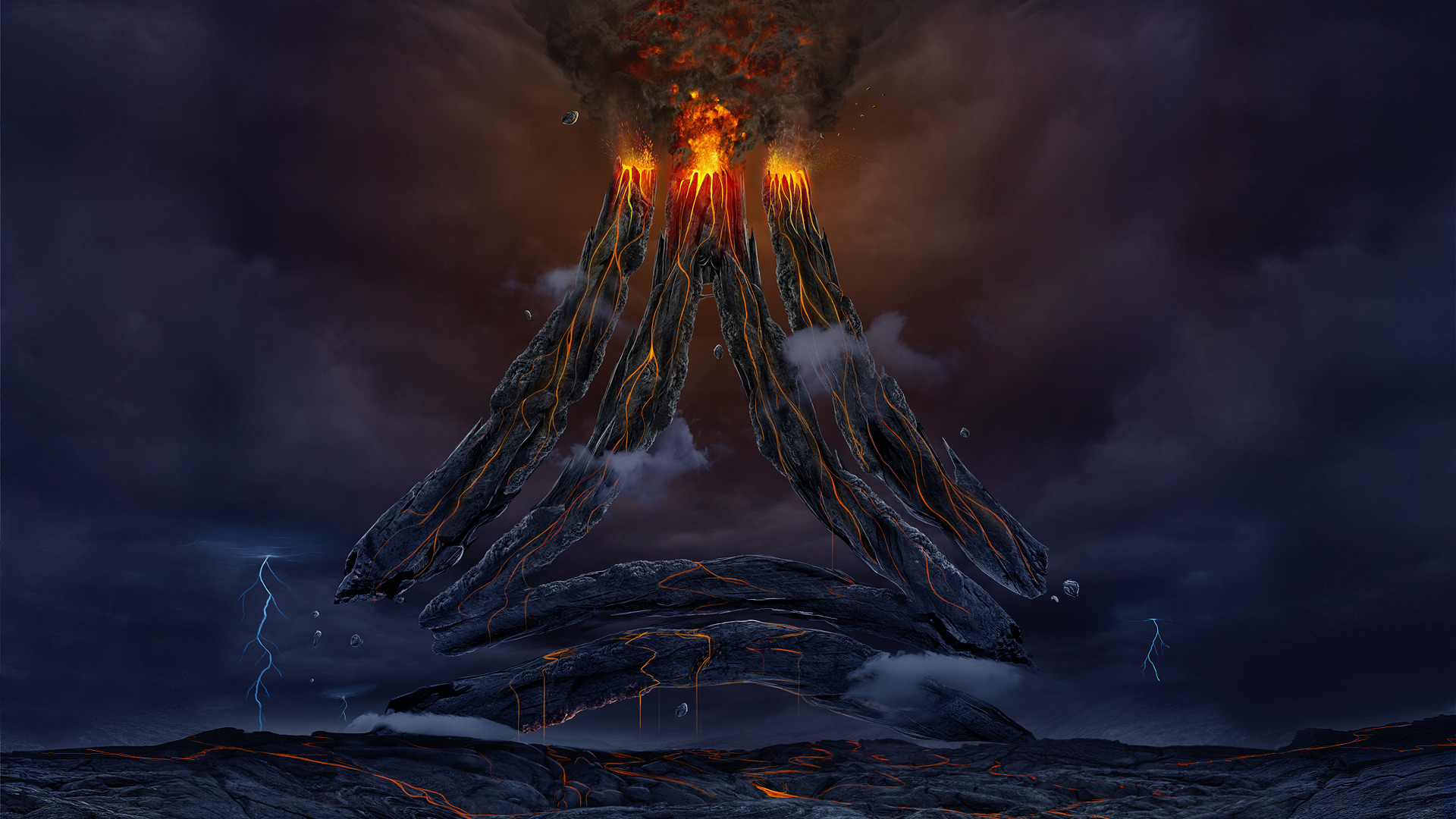 Volcano Wallpaper  WallpaperSafari
