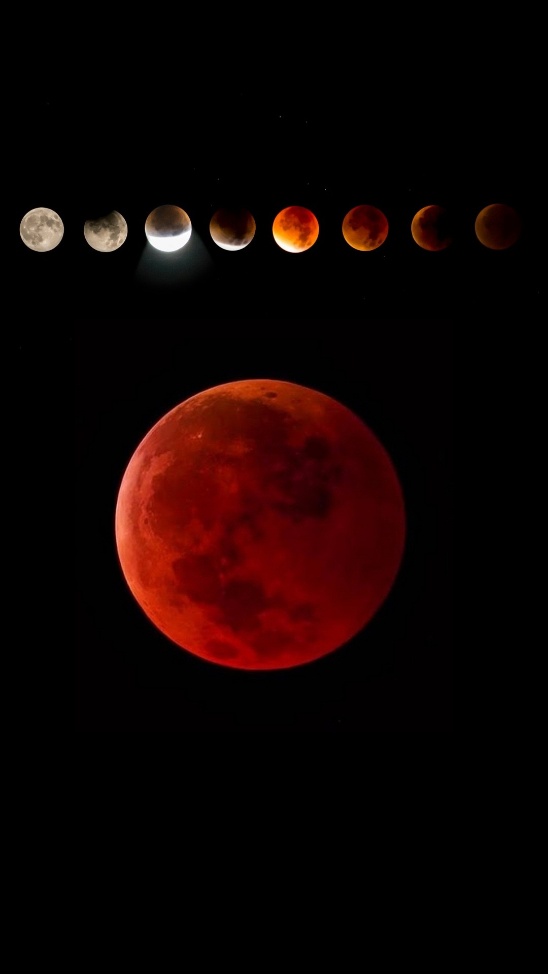 Android Wallpaper Blood Moon Lunar Eclipse   2020 Android Wallpapers 1080x1920
