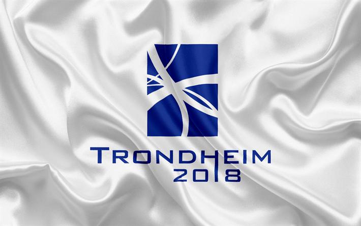 Download wallpapers Trondheim 2018 emblem logo Winter 710x444