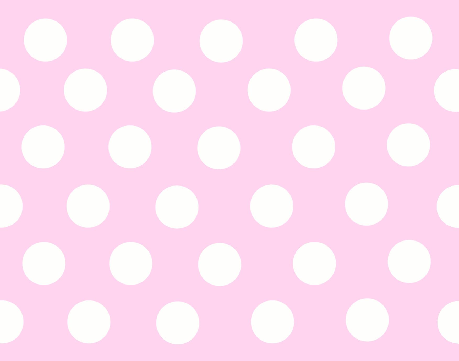 White polka dot wallpaper wallpapersafari for Pink and white wallpaper