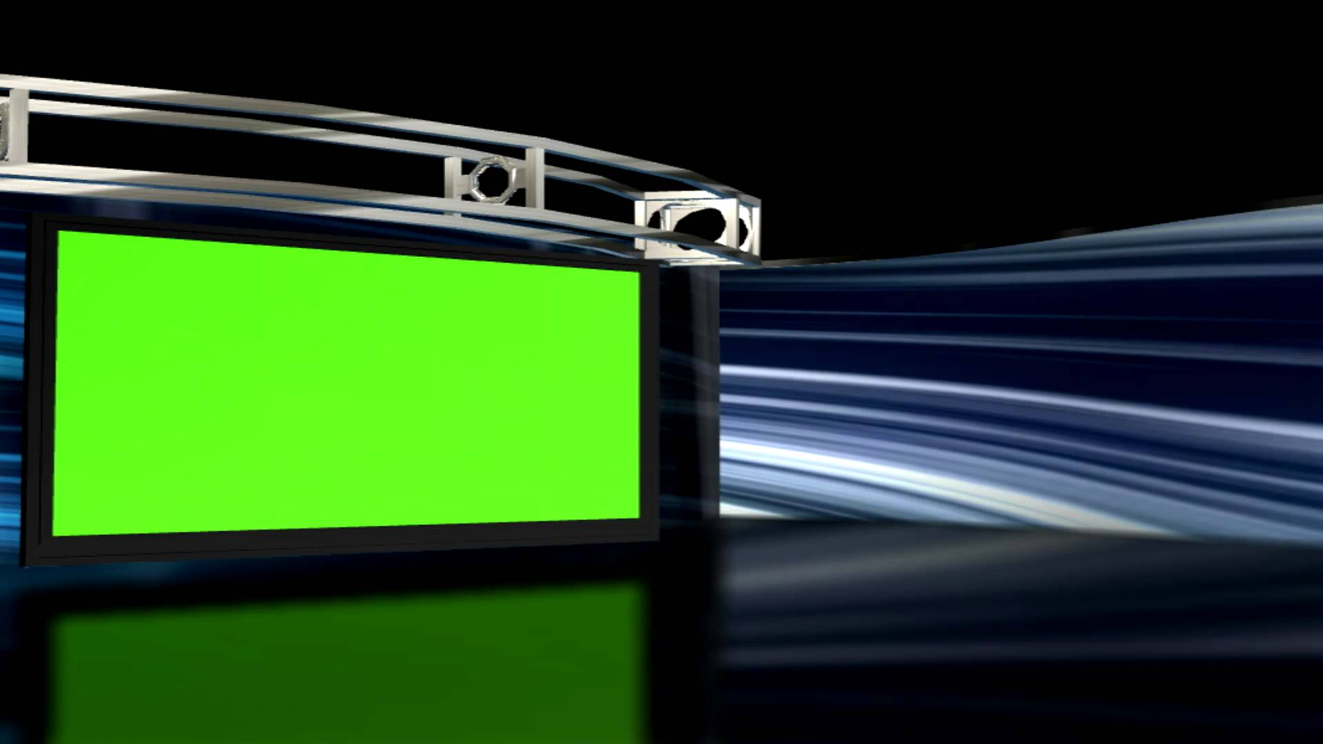 set Background 1 with Green screen TV set Chroma key 1920x1080
